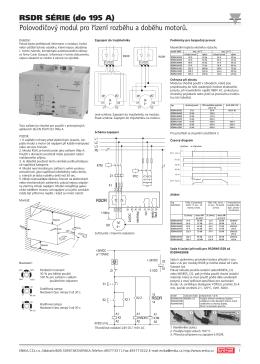RSDR SÉRIE (do 195 A) Polovodičový modul pro řízení