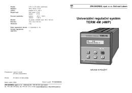 TERM 4M - ZPA EKOREG, spol. s r.o.