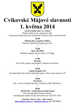 Cvikovské Májové slavnosti 1. května 2014
