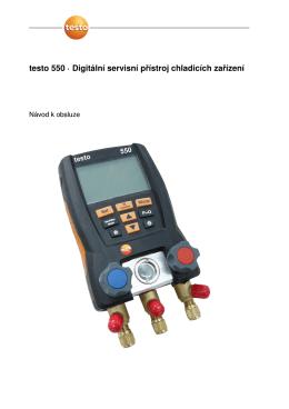 testo 550 · Digitální servisní přístroj chladicích zařízení