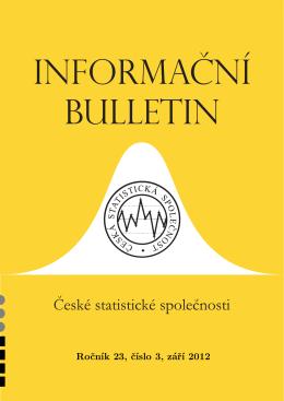 Ročník 23, číslo 3, září 2012 - Česká statistická společnost