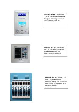 termostat UTH 200 – rozměry 70 X120X40, barva stříbrná s