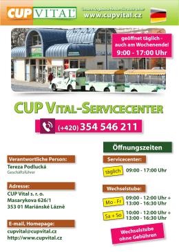 CUP VITAL-SERVICECENTER (+420)354 546 211