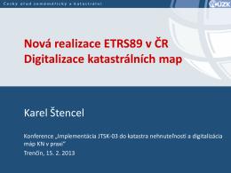 Digitalizace katastrálních map