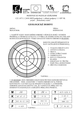 Geologické hodiny - Bohumínský exakta