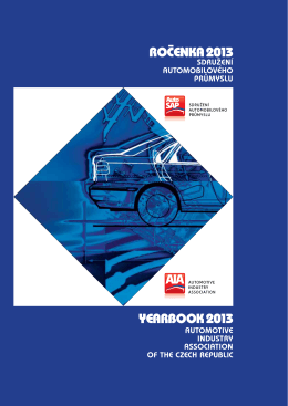 rocenka 2013 yearbook 2013 - Sdružení automobilového průmyslu