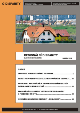 Untitled - Regionální disparity