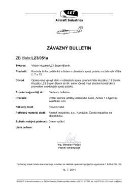 Závazný bulletin č. L23/051a - Straight