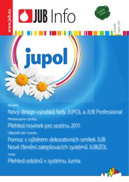Nový design výrobků řady JUPOL a JUB Professional Přehled
