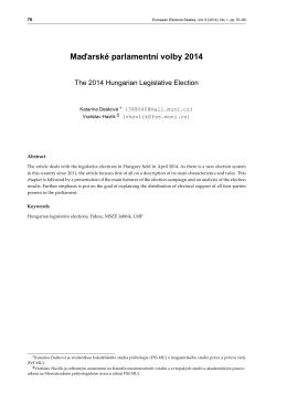 Maďarské parlamentní volby 2014