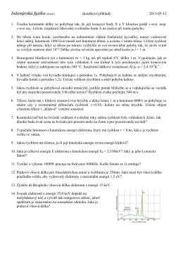 Inženýrská fyzika (komb.)