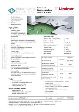 Zdvojená podlaha NORTEC L 36 x M - Konstruktis