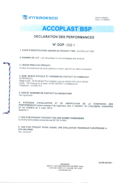 ACCOPLAST BSP