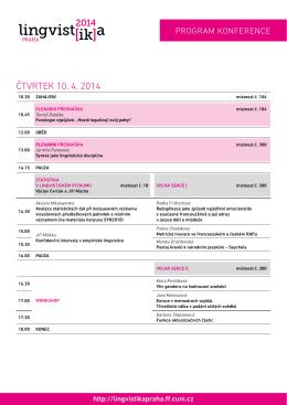program - Lingvistika Praha