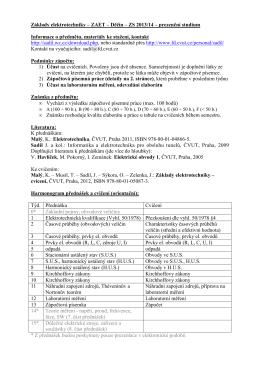 Základy elektrotechniky – ZAET – Děčín – ZS 2013/14
