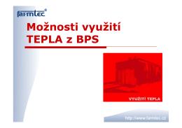 Využití tepla a KGJ Větrný Jeníkov 2014