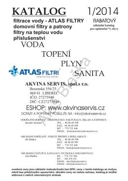 atlas filtri - Akvina servis s.r.o.