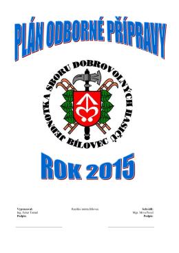 Plán odborné přípravy na rok 2015