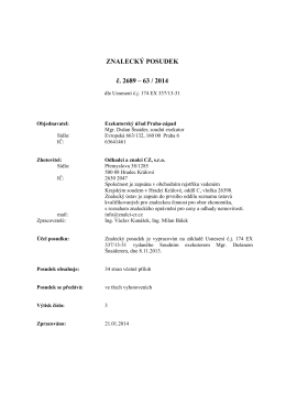 ZNALECKÝ POSUDEK č. 2689 – 63 / 2014