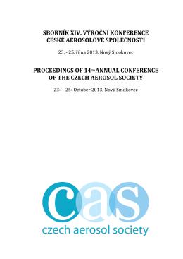 ČAS 2013 - Czech Aerosol Society