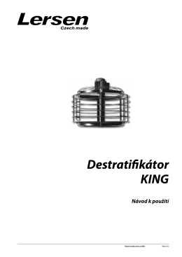 Destratifikátor KING - PS