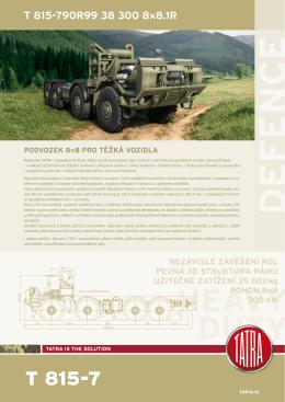 T815-790R99 - 8x8 podvozek