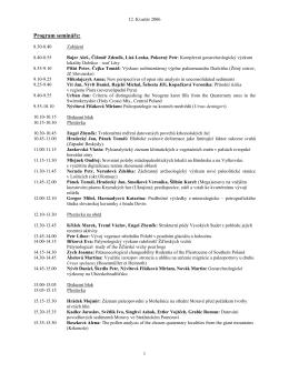 Kvartér 2006 - Ústav geologických věd
