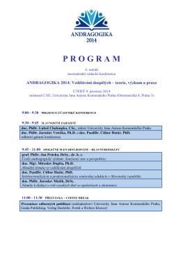 program konference - Univerzita Jana Amose Komenského Praha