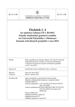 seznam schválených projektů 2013