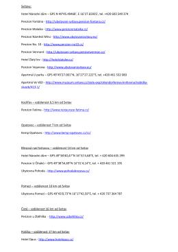 Možnosti ubytování v PDF formátu