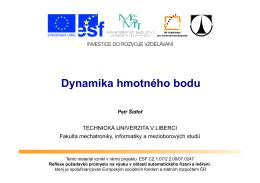 Dynamika hmotného bodu - Technická univerzita v Liberci