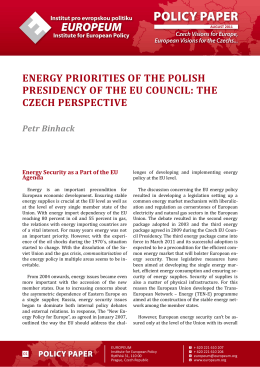 energy priorities of the polish presidency of the eu council