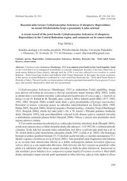 259 Recentní nález krasce Cylindromorphus bohemicus