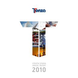 Výroční zpráva spol. TENZA za rok 2010