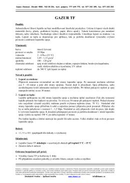 technický list - Dawex Chemical