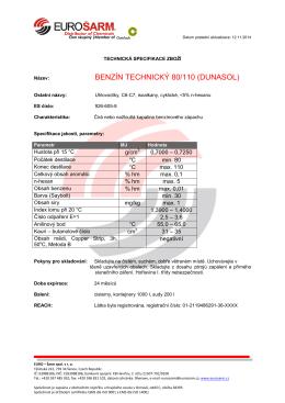 BENZÍN TECHNICKÝ 80/110 (DUNASOL)