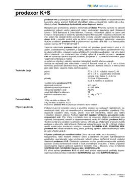 Prodexor K+S - TL - PRISMA CONSULT spol. s ro