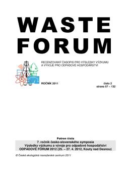 7. ročník česko-slovenského symposia Výsledky výzkumu a vývoje pro