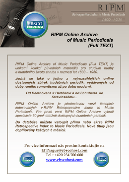 RIPM Online Archive of Music Periodicals (Full