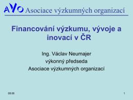 Financování výzkumu a vývoje v ČR