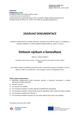 Smluvní výzkum a konzultace