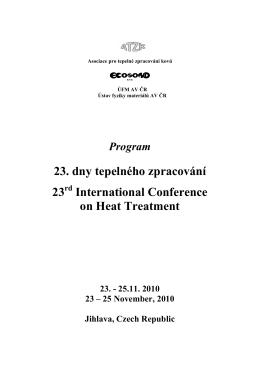 23. dny tepelného zpracování 23 International