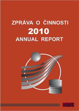 Zpráva o činnosti v roce 2010