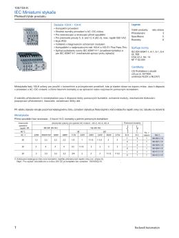 Katalog miniaturních stykačů Allen Bradley, řada 100K / 104K