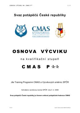 Osnova výcviku CMAS P2 2006