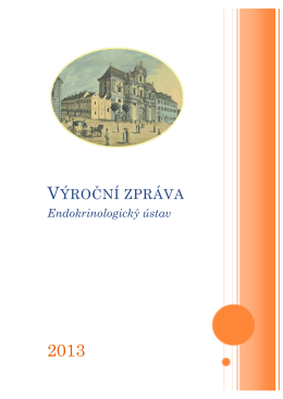Výroční zpráva 2013 - Endokrinologický ústav