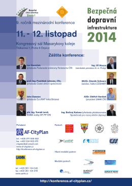 Pozvánka ve formátu PDF - konference.cityplan.cz
