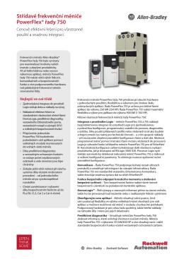 Střídavé frekvenční měniče PowerFlex® řady 750