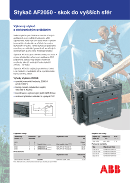 Stykač AF2050 - skok do vyšších sfér