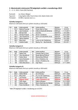 2. Mezinárodní mistrovství ČR belgických ovčáků v mondioringu 2013
